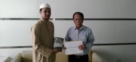 ฝ่ายกฎหมายมูลนิธิมุสลิมเพื่อสันติ ยื่นหนังสือทำความเข้าใจถึงบรรณาธิการบริหารของหนังสือพิมพ์ไทยรัฐ